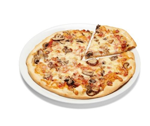 Pizza Fina Bacon & Champiñones Portobello