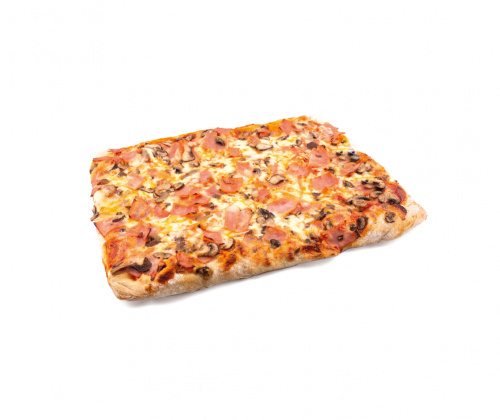 Pizza Jamón Cocido y Champñón Portobello