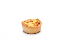 Mini Quiche Artesana de Bacon y Puerro