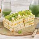 Pastel Frío de Pollo, Aguacate, Maíz y Cilantro