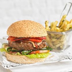 Burger de ternera al estilo argentino