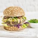 Burger de Atún con col lombarda y shiitake