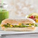 Sándwich de pavo, calabacín y alioli de zanahoria