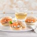 Pulga de salmón con crema nórdica