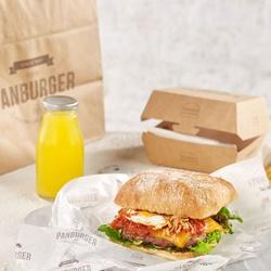 Burger con cheddar y huevo